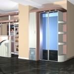 Барная стойка и шкаф-купе в частном коттедже